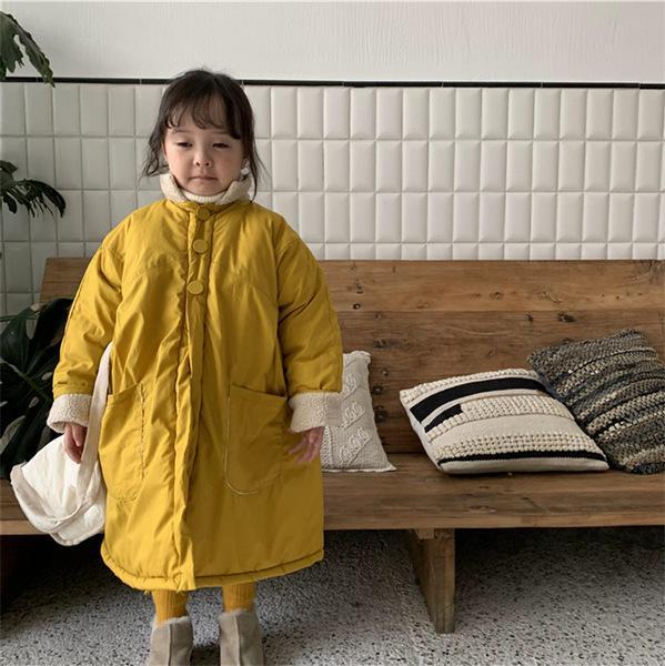 지포레 여아 루즈핏 빅포켓 양털 코트