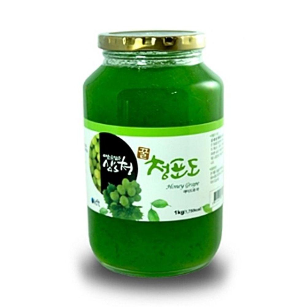 꽃샘식품 [AHW_4548180] 한국 청포도차 청포도청 1kg 차음료 포도청 청포도에이드 겨울포도차, 단일상품, 단일상품