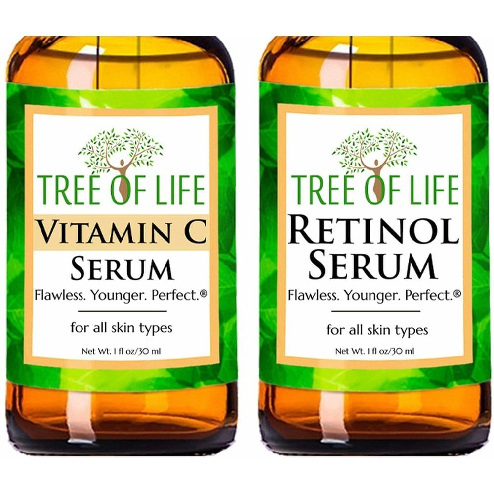 tree of life Vitamin C Serum Retinol Serum Combo Pack 트리 오브 라이프 비타민 세럼 + 레티놀 1oz(30ml) 2팩, 1개