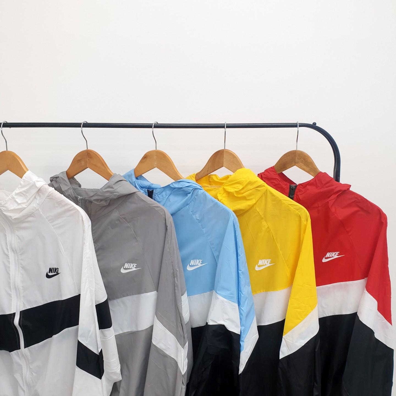 비에이 BM 나이키 NSW 로고 사선 배색 바람막이
