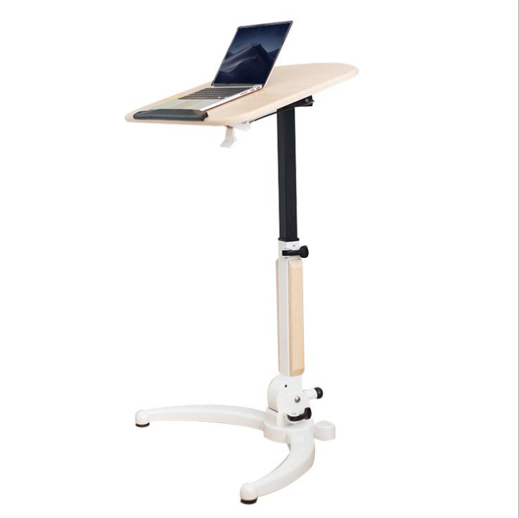 키높이 높이조절 스탠드 스탠딩 철제책상 노트북 책상, 우드