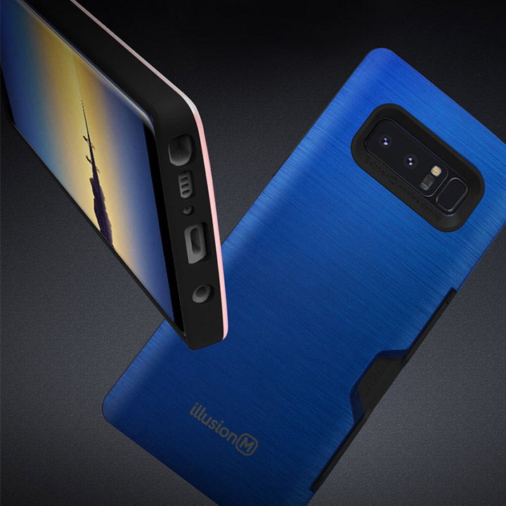 LG V50s 일루션 메탈 카드 범퍼케이스 / LM-V510