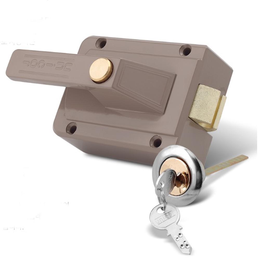 유니코 13A 대문 개폐기 잠금장치 열쇠 220V 손잡이 도어록, 유니코13A