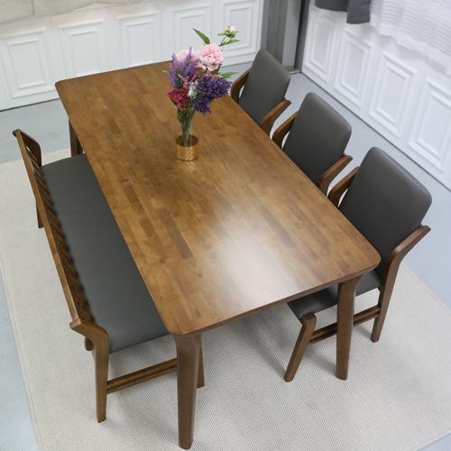 참갤러리 아로마 식탁세트, 6인식탁+벤치1+의자3