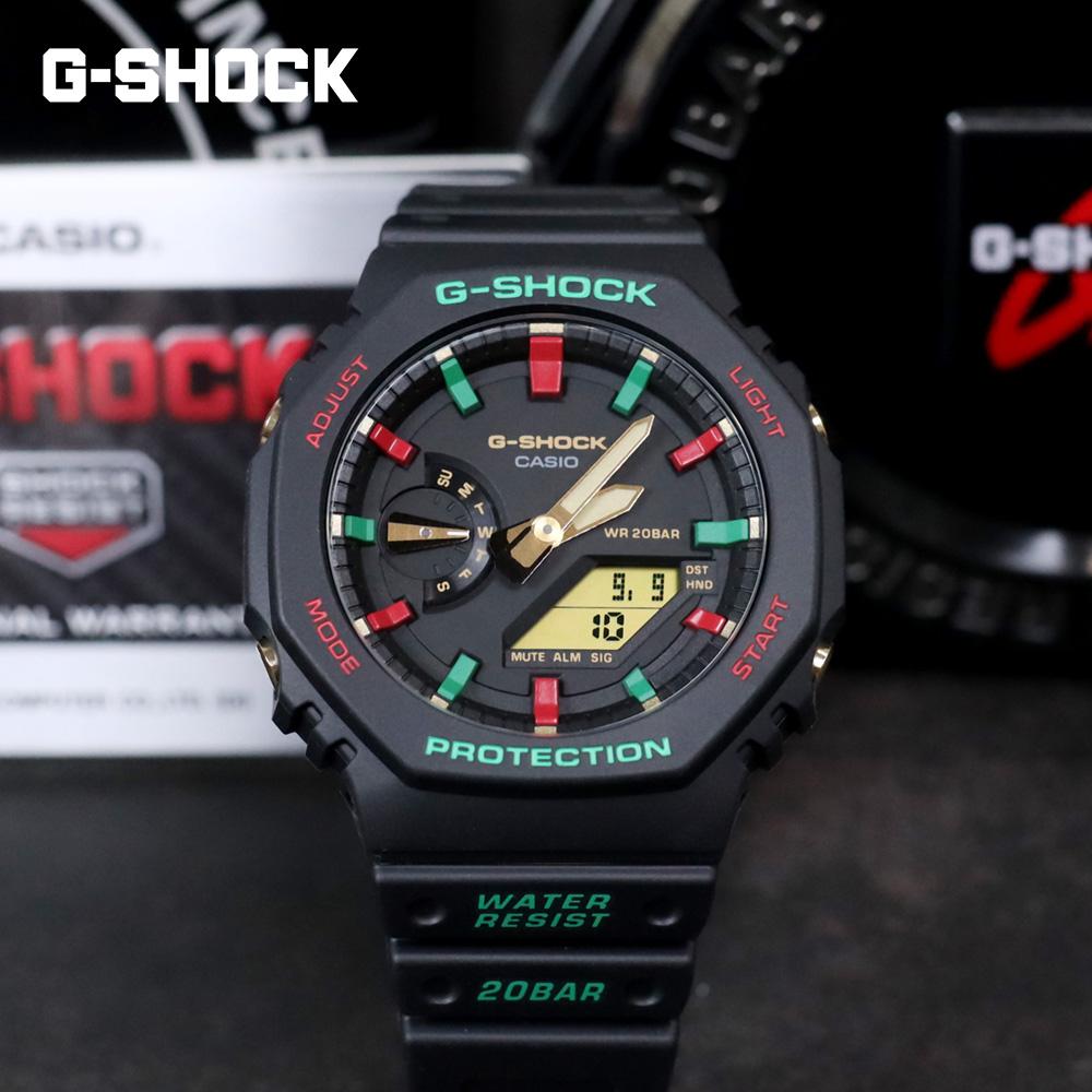 지코스모 지샥 지얄오크 GA-2100TH-1ADR 내충격구조 방수시계 라이트