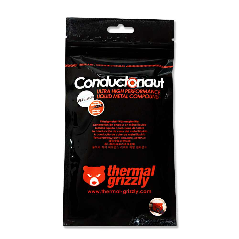 grizzly thermal Conductonaut 1g 액체금속 써멀구리스, 단품