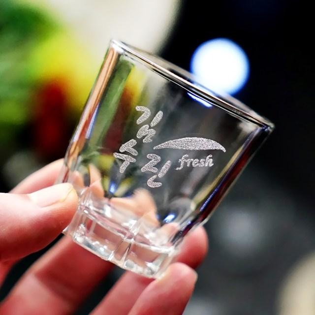 인생술잔 주문제작 각인 소주잔 4p세트 메세지 로고 각인 소량제작 개별맞춤 인생술잔 인싸템, 03-참이슬후레쉬(3글자)