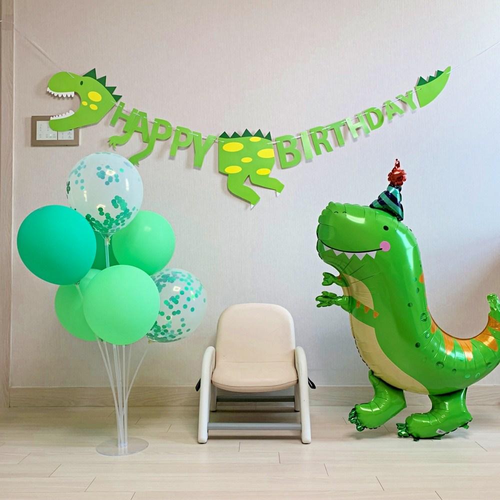 공룡 풍선세트 셀프 생일 꾸미기 홈파티 가랜드
