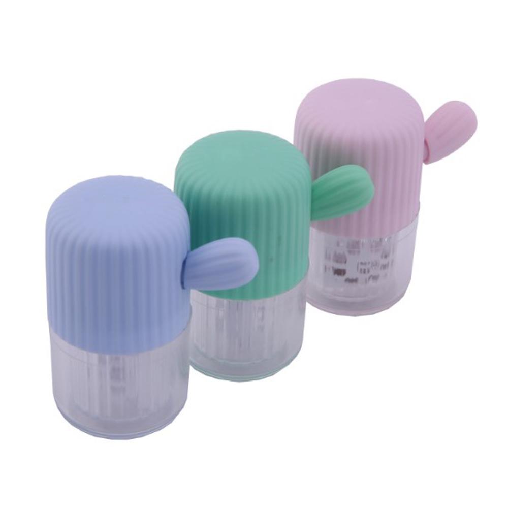 마더센트 휴대용 콘택트렌즈 클리너 수동 세척기, 1개, 스카이블루