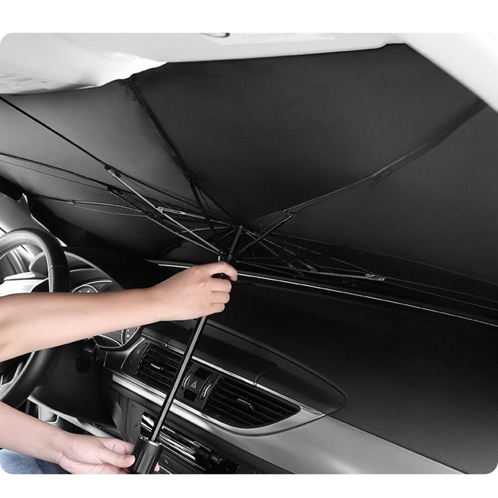 니녹스 차량용 우산형 햇빛가리개 자동차 앞유리햇빛가리개 운전석햇빛가리개 햇빛가림막 태양열 차단 차박 가림막, 블랙