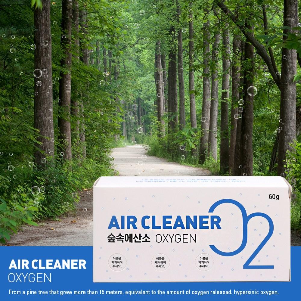숲속에산소 3개월분 60g 산소발생기 공기정화 미세먼지 유해물질제거, 숲속에산소 60g