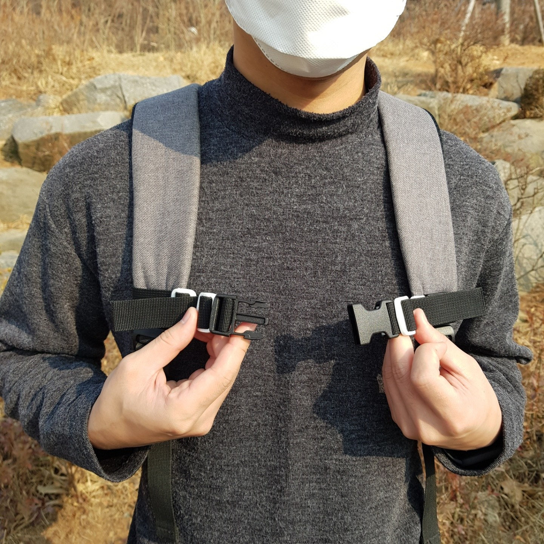 성인 체스트 스트랩 가방 백팩 어깨 가슴끈 체스트벨트 흘러내림방지 고정 보조 버클 스트랩 25mm
