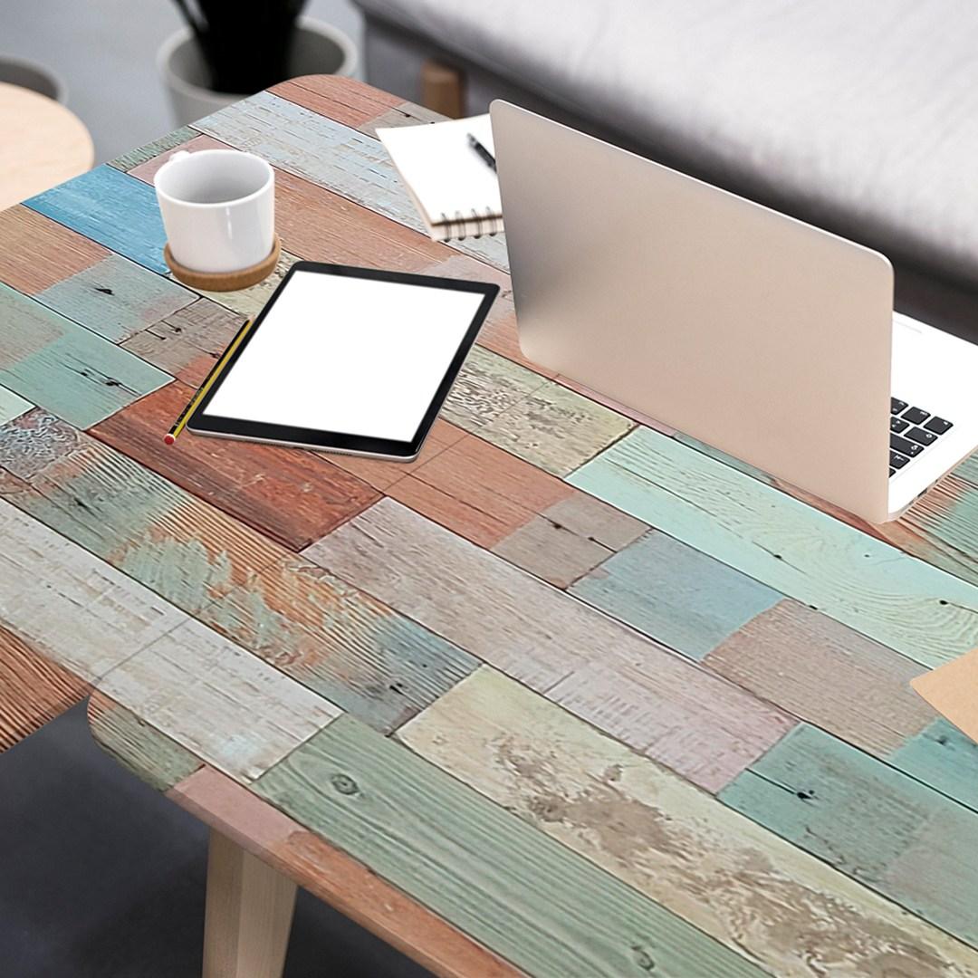 LG하우시스 현대인필 책상 식탁 리폼 시트지 인테리어필름 1m 연결발송, 21. 빈티지패널 멀티 ECLW478