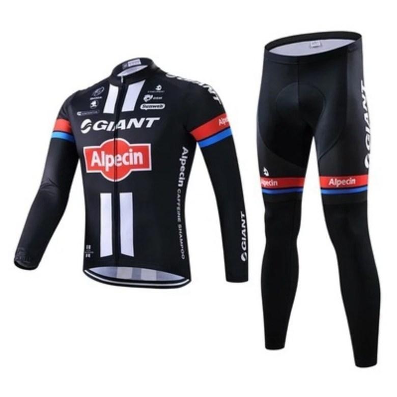 GIANT 사이클복 긴 소매 사이클 자전거 재킷 바지 도로 산악 자전거 셔츠