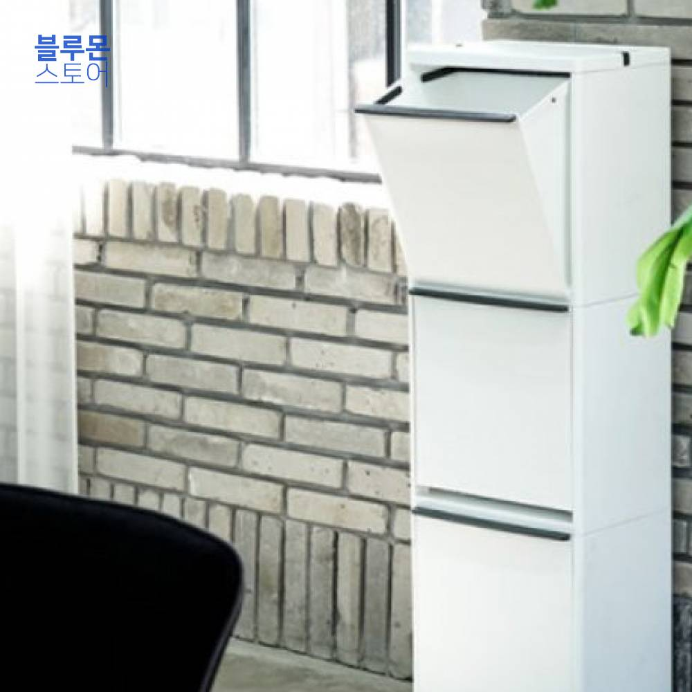 블루몬 생활용품 프랑코 스탠드 분리수거함 3단 352x270x1145mm 생활잡화 수납용품 휴지통