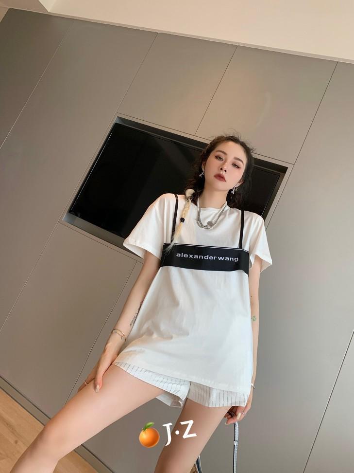 캣츠미 패션반팔티셔츠 인싸템 같은스타일 AW 대왕 스타일리시 블러킹 디자인 감각 t셔츠 여성 투수영복 트렌드