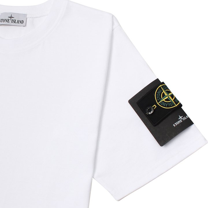 스테이 S톤 와펜 남녀공용 반팔 티셔츠