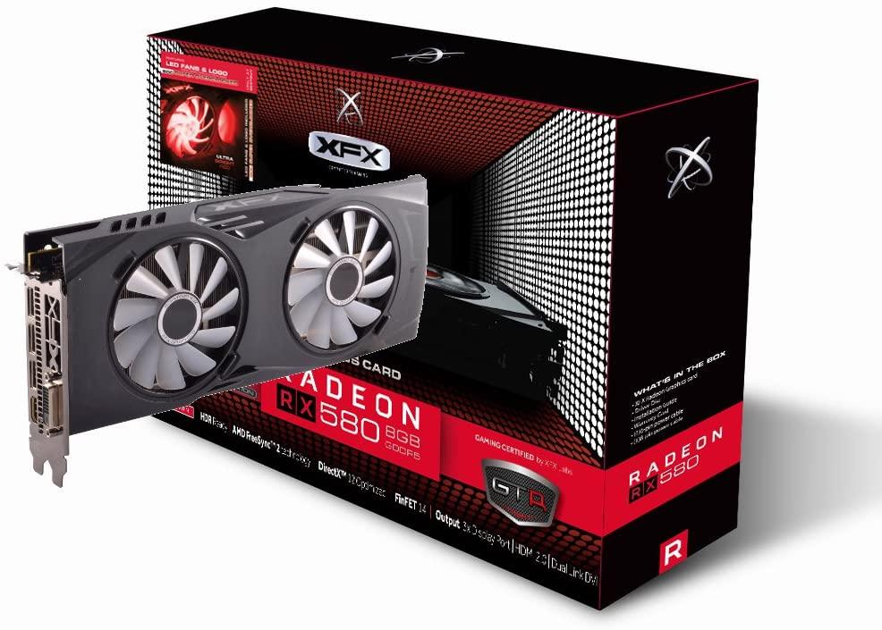 (관부가세별도) XFX AMD Radeon RX 580 8GB GDDR5 PCI Express 3.0 Graphics Card-B06Y54TK2B, one color / one size