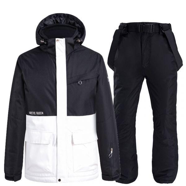남여공용 커플 스키복 세트 따뜻한 방수 방한 스노우보드복
