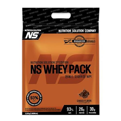 NS 포대유청 WPI 초코맛 헬스보충제 단백질보충제 유청단백질가루 단백질쉐이크 프로틴, 1팩, 2kg