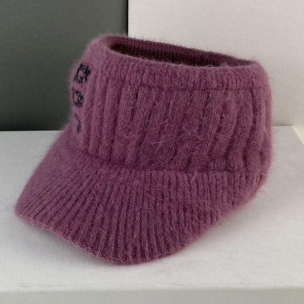 BBC 여성 니트 골프 겨울 털 모자 귀도리 이어워머 귀마개 캡 군밤장수 군고구마 여자, 로즈 레드
