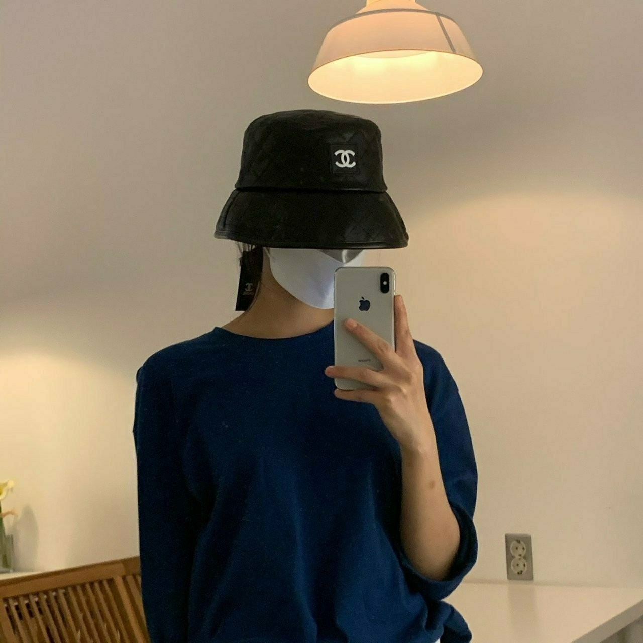 마리아몰 [샤넬] 명품 모자 가죽버킷햇