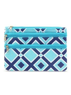 zodaca 여성을 위한 코인 지갑 지갑 지퍼백 가방 카드케이스 - 타임스퀘어 녹송석