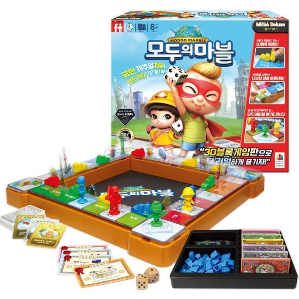 메가 디럭스 모두의마블 블록 게임 인기보드게임 가족게임