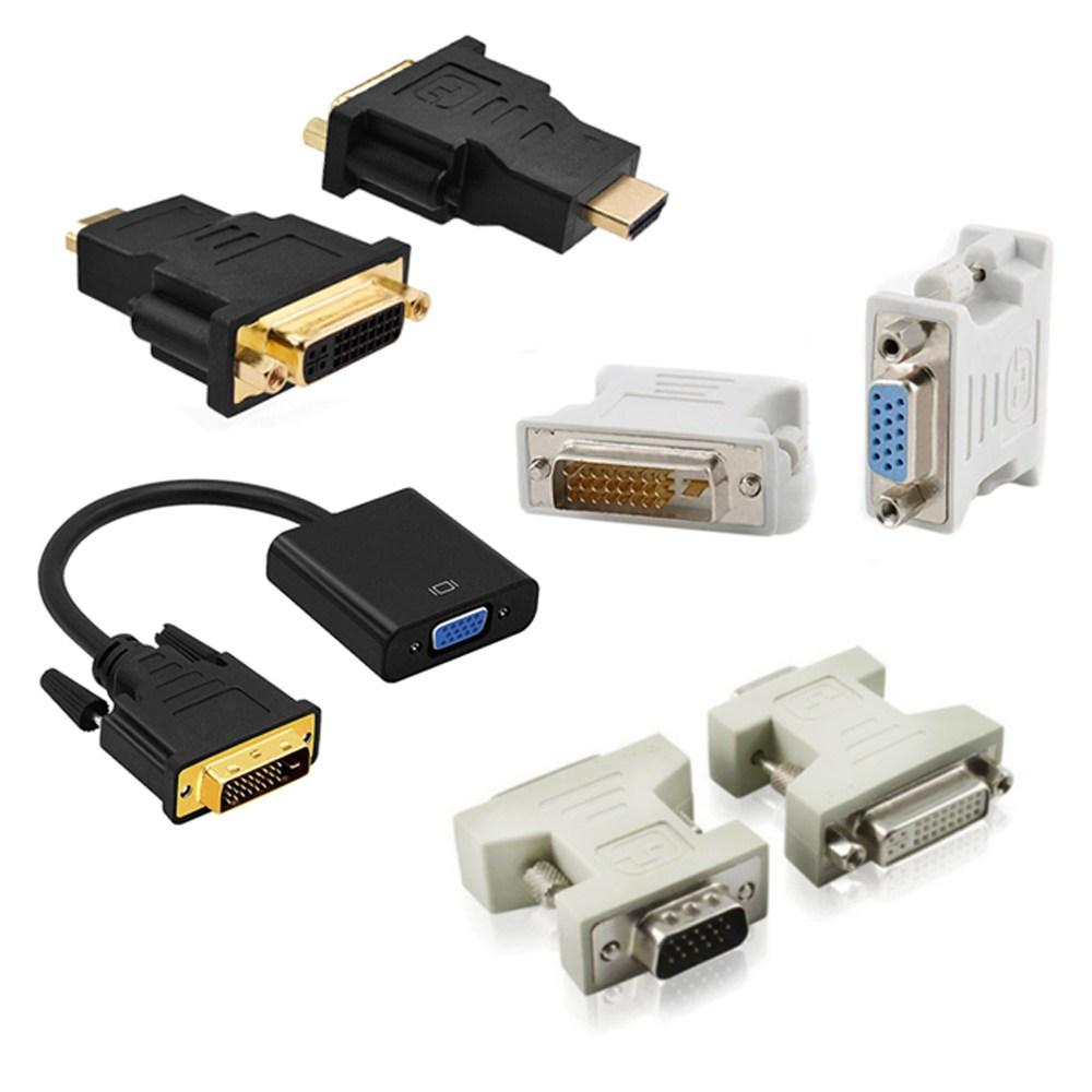 변환 모니터 컴퓨터 노트북 HDMI DVI VGA DVI-D 케이블 컨버터 연장 젠더, MY0005