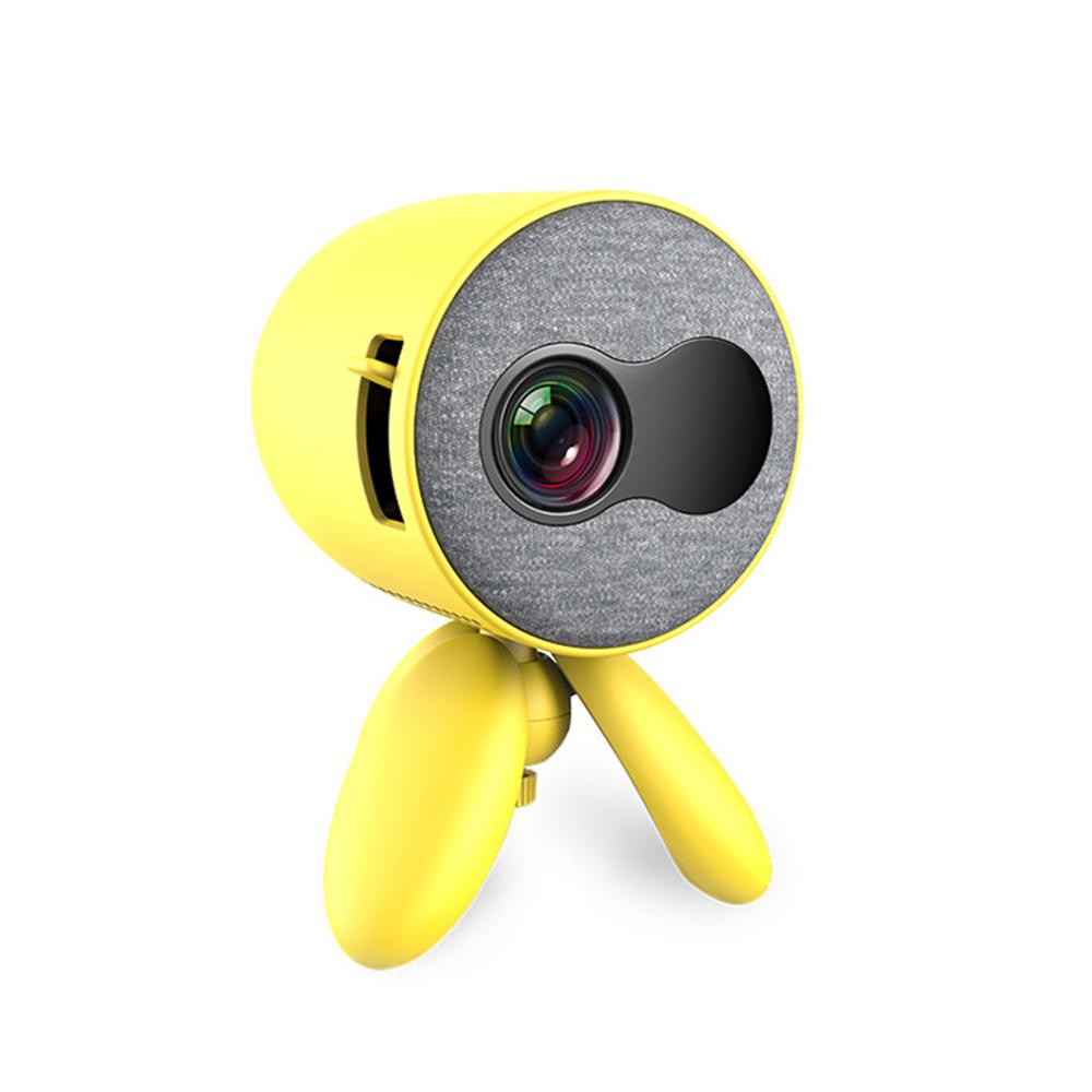 고비트 YG220 소형 휴대용 스마트폰 미니 1080P 빔 프로젝터 빔프로젝터, Yellow(옐로우)_기본+국내용고급형플러그