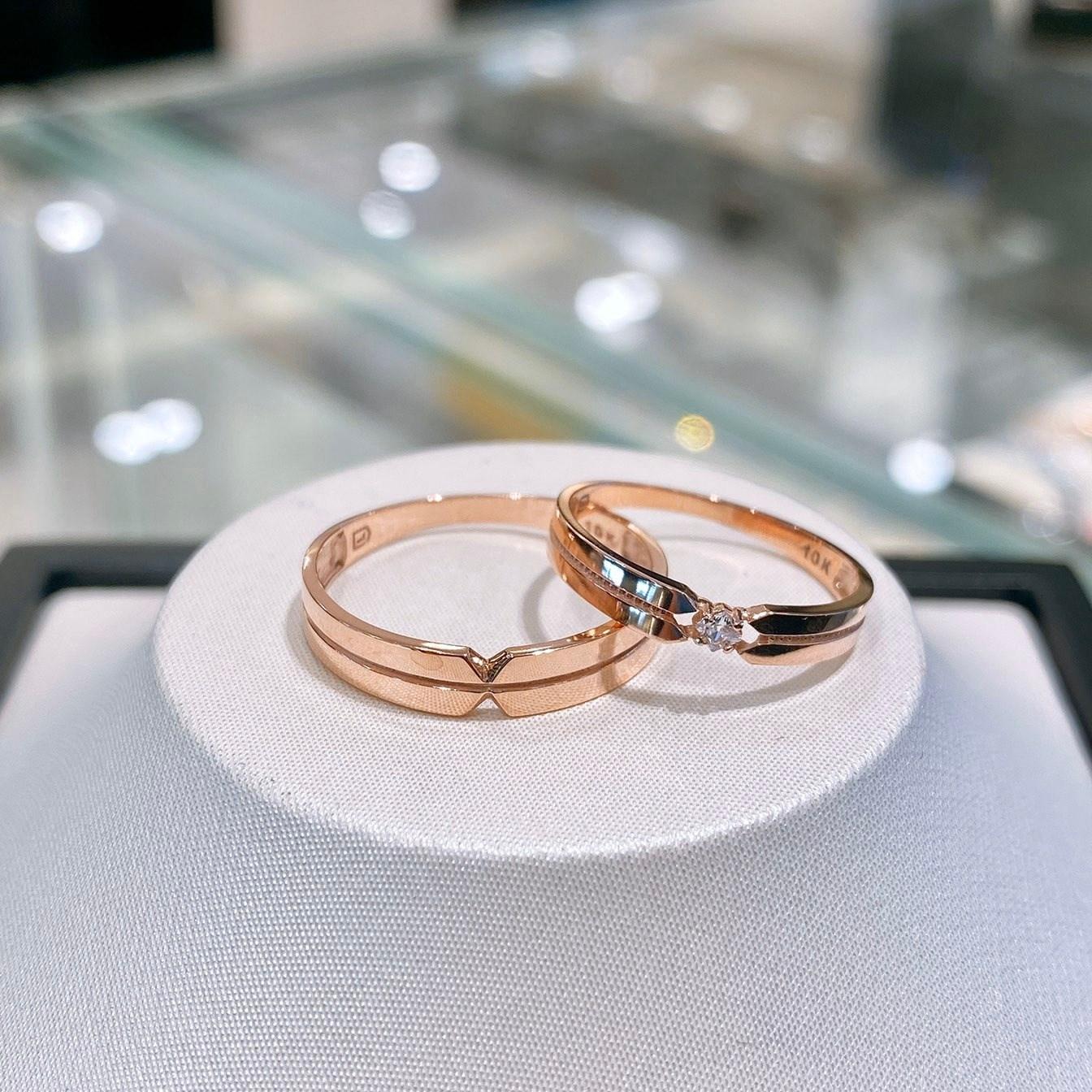 로이드 10K 14K 원 러브 포인트 커플링 인천 뉴코아점 반지