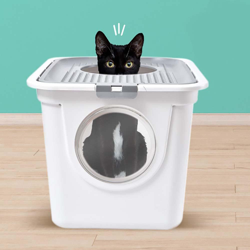 디럭스 묘래박스 두부모래 사막화 방지 고양이 배변통 화장실 즐똥 모래통 특대형 빅사이즈