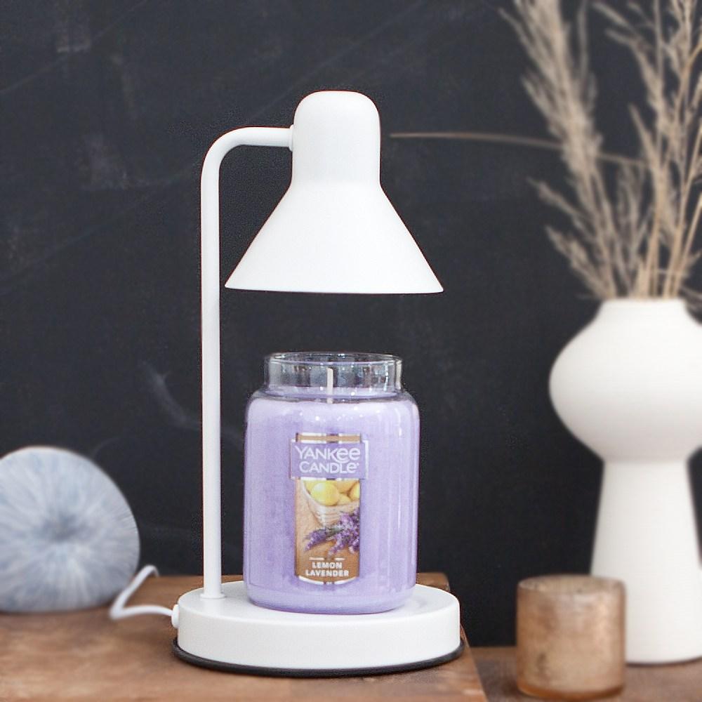 더스윗캔들워머 모노화이트(다이얼)+양키캔들 캔들워머세트 전구2개증정, 레몬라벤더