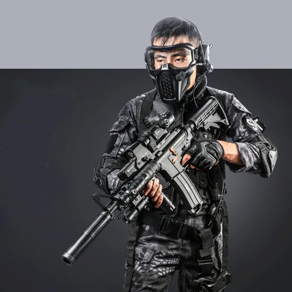 JinMing M4A1 배틀 M4 9세대 전동건 풀파츠 젤리탄 수정탄 엠포 RIS, 9세대 M4A1 AR 타입 탄창1개 배터리1개