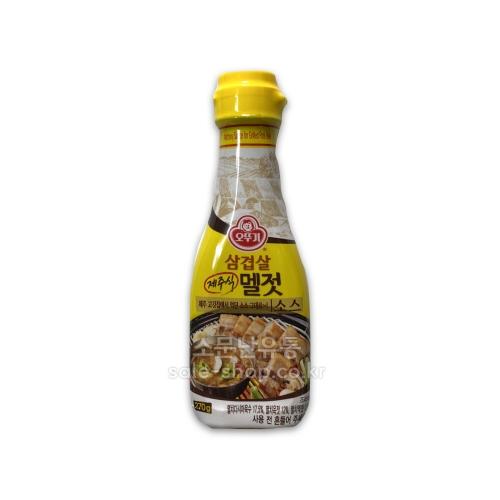 오뚜기 삼겹살 제주식 멜젓소스 270g, 단일상품