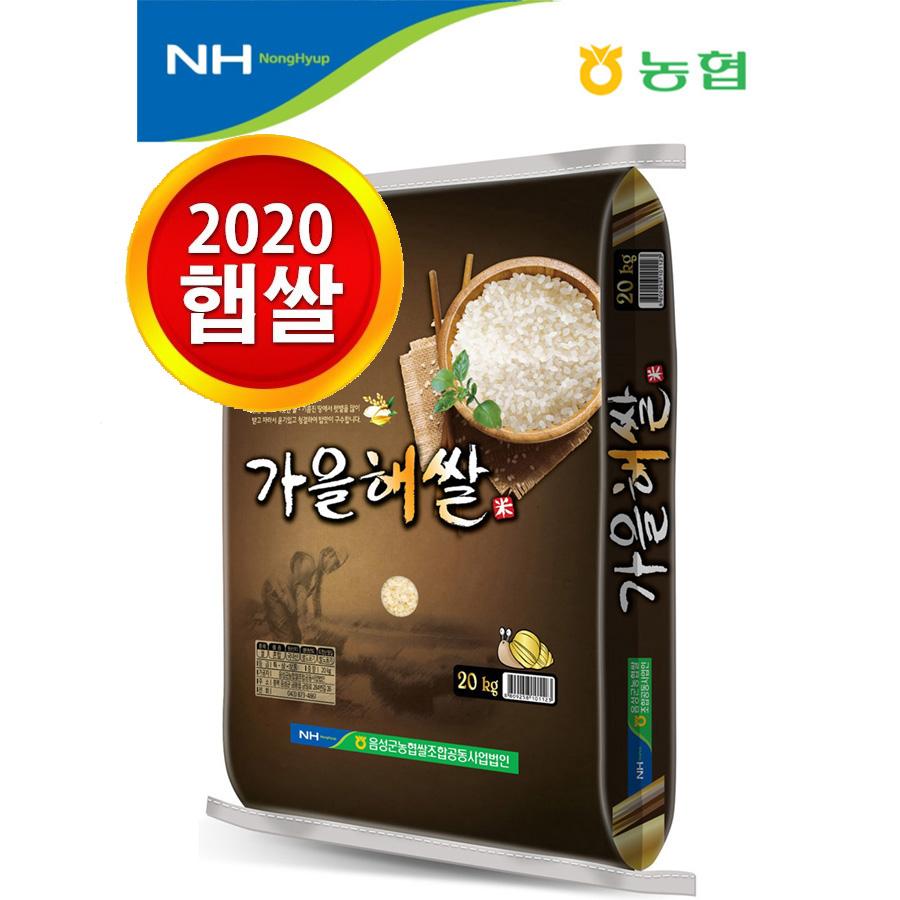 [농협산지직송] 2020년산 가을해쌀, 1개, 20kg