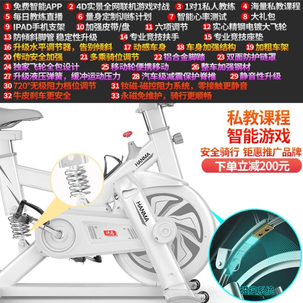 실내 무소음 스핀 사이클 로잉 좌식사용, D.S9-백-자기제어저항-유압감진-APP