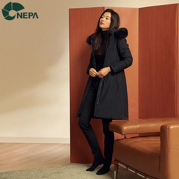 NEPA 네파 여성 아르테 구스다운자켓 네이비 7G82043