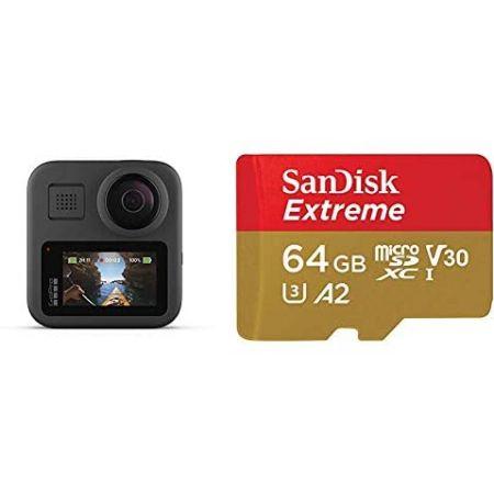[아마존베스트]GoPro MAX + 1 microSD Card PROD5870000351, w microSD Card_One Size