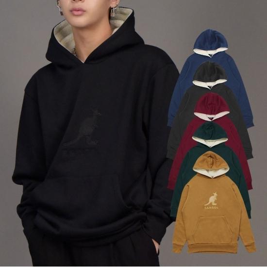 캉골 캉 포켓 후드 티셔츠 남자 여자 공용 K9693