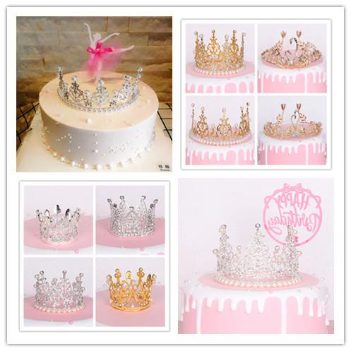 해외 생일소품 기념일 크라운 케이크 장식 발렌타인 데이 베이킹 장식 세트 크리스털 대왕관-22293192428468, 단일옵션, 옵션6