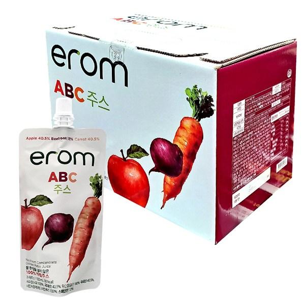 이롬 ABC 주스 100ml x 20개 100% 착즙 과채 해독 사과 비트 당근 쥬스, 단일상품