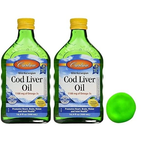 Carlson Norwegian Cod Liver Oil Omega3 칼슨 코드 리버 오일 오메가3 1100mg 레몬 500ml 2팩