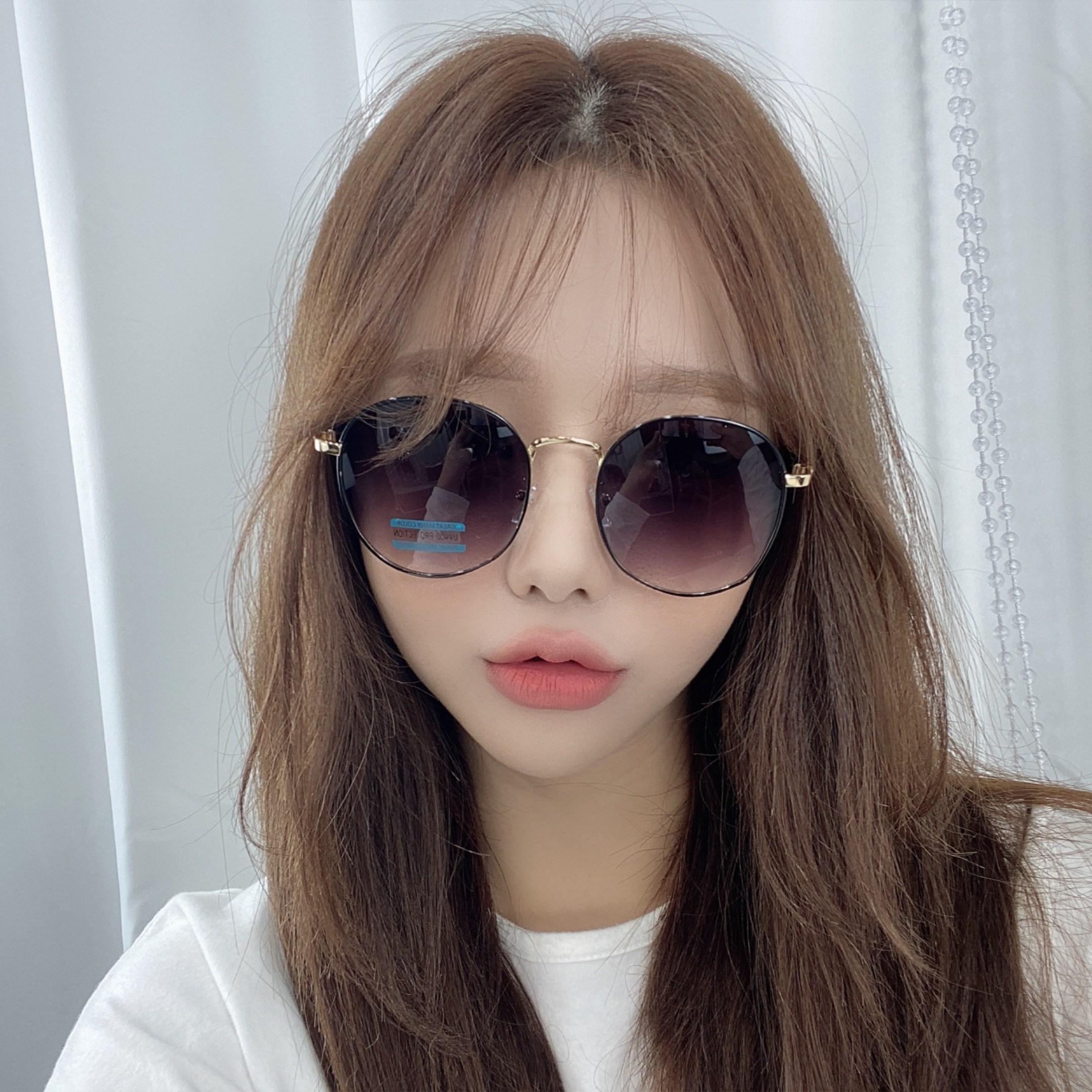 VANANA2 여성 남성 여름 선글라스 패션 미러 틴트 자외선차단 메탈테 여자 바캉스 남자 보잉 휴양지 썬글라스