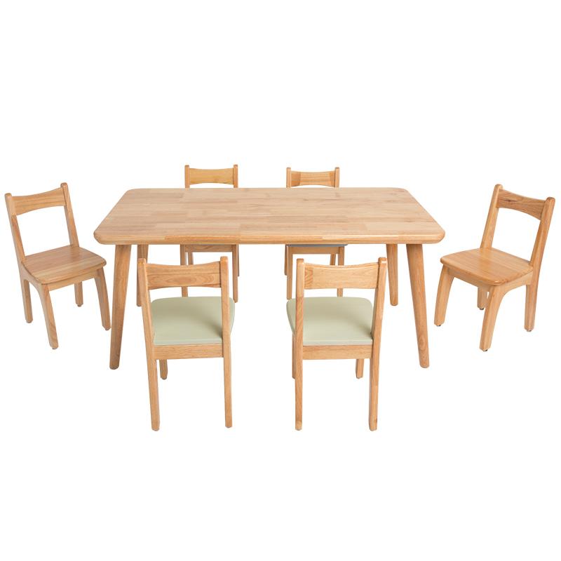 1인용 리틀 책상 의자세트 내추럴 민트그린 유치원 테이블과 의자 단단한 나무 어린이 테이블과 의자 가구, AI