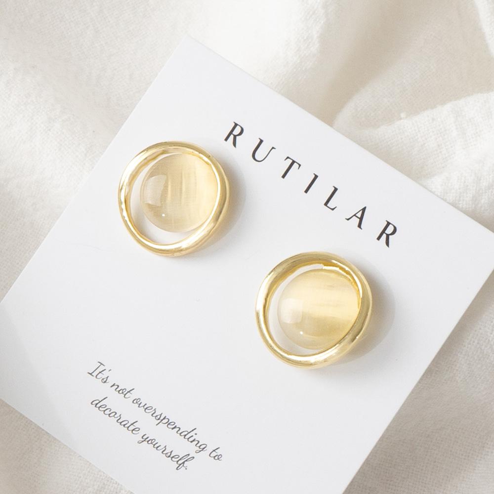 [루틸라] 은침 더블써클 심플 포인트 고급스런 귀걸이 RA14 패션귀걸이