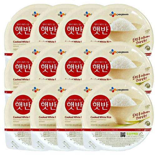 호호몰 CJ 햇반 200g X 12개 한박스 간편한 즉석밥 쌀밥, 1box