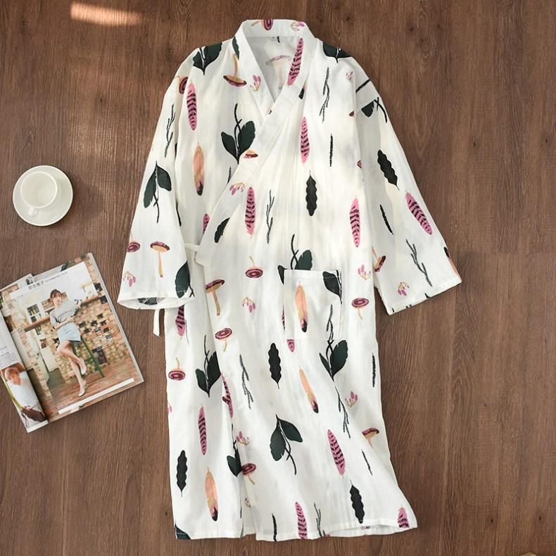 MISO 유카타 잠옷 샤워가운 홈웨어 여름잠옷 원피스잠옷