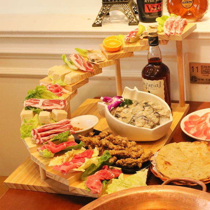일식 5 7 계단 접시 오마카세 회 소고기 플레이팅, 9 계단