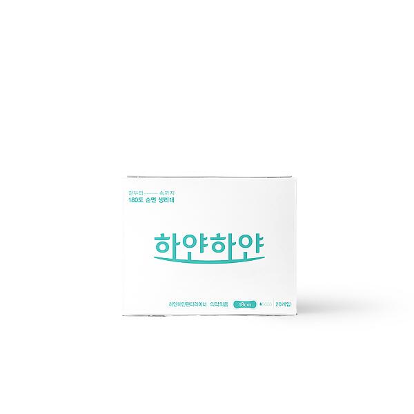 [하얀하얀] 하하별 생리대/ALL 순면/안전하고 편리한 일회용면생리대/라이너(20개입), 상세확인